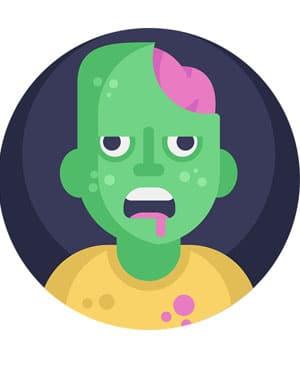 zombi imagen vectorial. Los mejores y los peores chistes de zombis