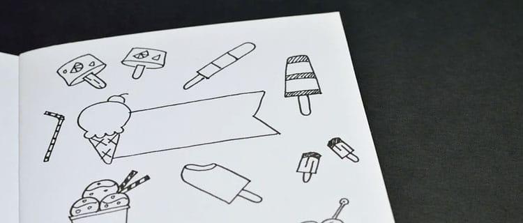 Doodles en agenda o libreta. formas en las que el Bullet Journal te ayuda a lograr tus objetivos
