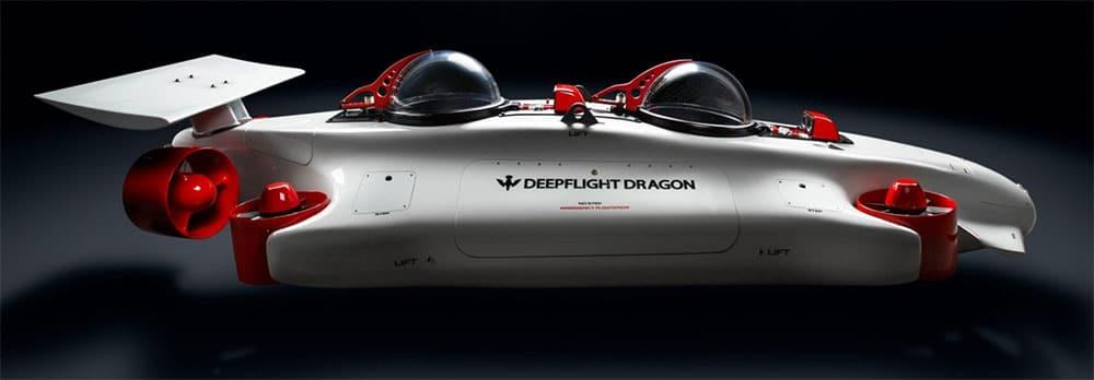 DeepFlight submarino privado. Cosas de tecnología solo aptas para millonarios y gadgets de lujo