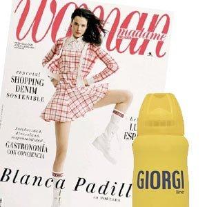 Regalos revistas españolas mayo 2021 Woman regala espuma Giorgi y neceser.
